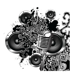 sketch speaker abstract vector image