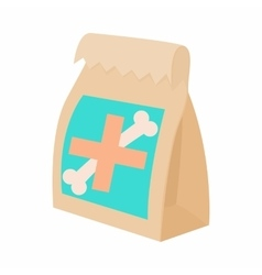 Packaging medication for animals icon vector