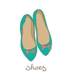 Women shoes flat ballerina vector