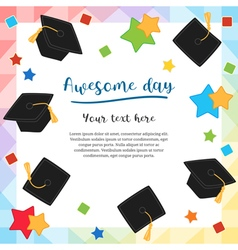 Cards graduation awesome day vector