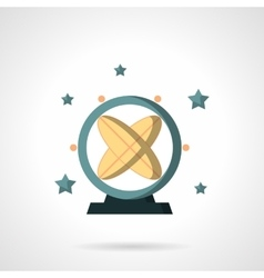 Astronomy pendulum flat color design icon vector