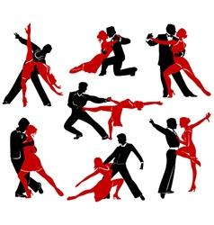 Ballroom Dancing - 4 vector image vector image
