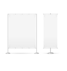 Blank banner billet press wall set vector