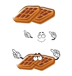 Cartoon classic sugar waffle character vector image