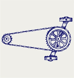 Chain gears vector image vector image
