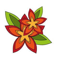 Delicate flower flat imag vector