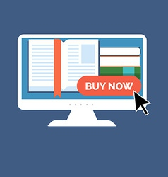 E-book buying concept Flat design Isolated on vector image vector image