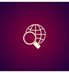 Global search icon World globe symbol vector image vector image