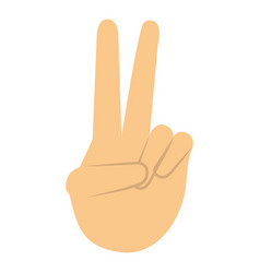 Hand human with peace and love gesture vector