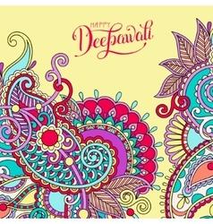 Happy deepawali greeting card with hand written vector