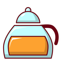 Honey in glass jar icon cartoon style vector