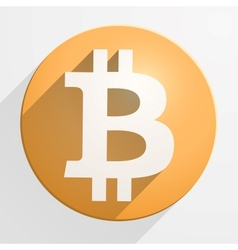 Icon of financial currency bitcoin vector