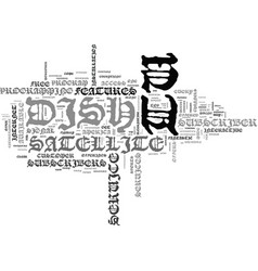 is dish tv a valuable alternative text background vector image vector image