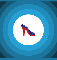Isolated sandal flat icon heeled shoe vector