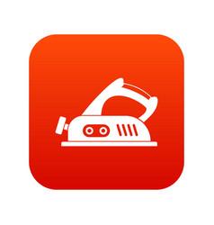Jack plane icon digital red vector