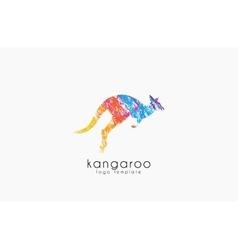 Kangaroo logo australia logo design animal logo vector
