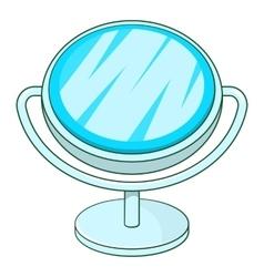 Makeup mirror icon cartoon style vector