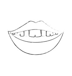 mouth smiling icon vector image vector image