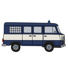old police minibus vector image