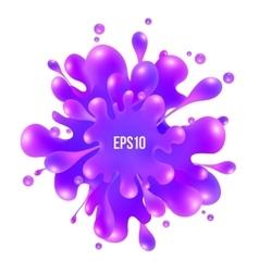 Purple paint splash isolated on white background vector
