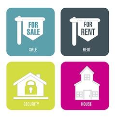Real estate sales rent vector