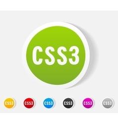 Realistic design element css3 vector