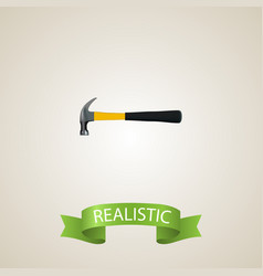 realistic hammer element of vector image