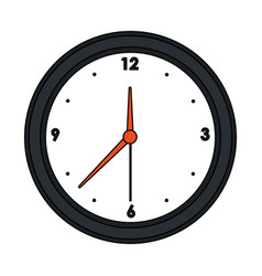 round wall clock icon image vector image vector image