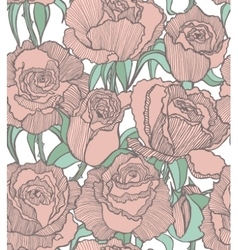 seamless colored background with pink roses vector image vector image