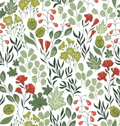 Seamless pattern with nature vector