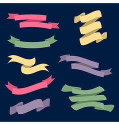 set with different ribbons vector image