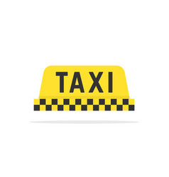 Simple color taxi sign vector