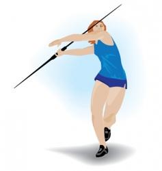 spear hurler girl vector image vector image