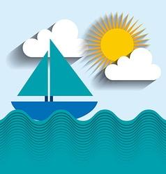 summer holiday design vector image