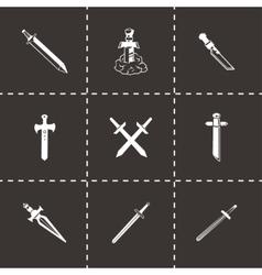 Sword icon set vector