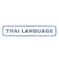 Thai language textile stamp vector