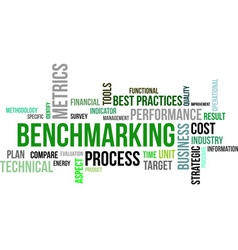 Word cloud benchmarking vector