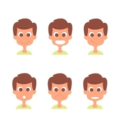 Man face with emotions set Man emotion vector image