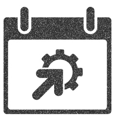 Gear integration calendar day grainy texture icon vector