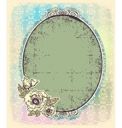 Vintage romantic frame vector image