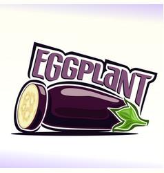 Eggplant still life vector