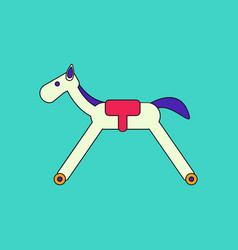 flat icon design collection rocking horse vector image