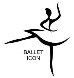 Ballet icon vector