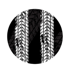 Tire tracks grunge circle vector
