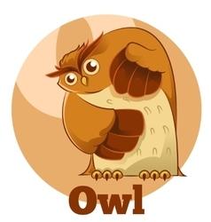 ABC Cartoon Owl vector image