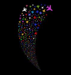 Air plane random stream vector