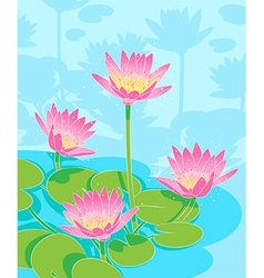 beautiful waterlilys vector image