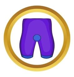 Bike cycling shorts icon vector
