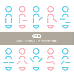character person flat icon minimal design for vector image