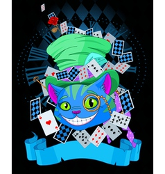 Cheshire cat in Top Hat design vector image vector image